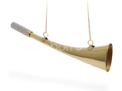 30cm long Brass curved shipping horn