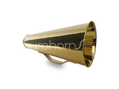 Brass call horn or megaphone